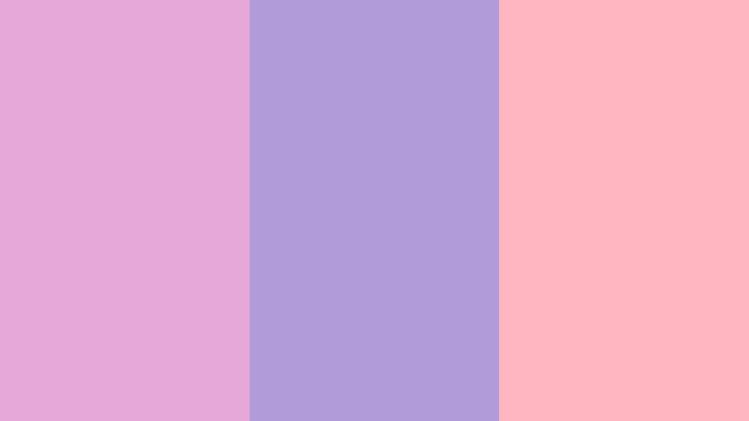 2560x1440 Light Orchid Pastel Purple Pink Three Color Background